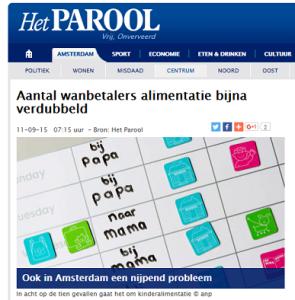 Parool Dijksterhuis alimentatie